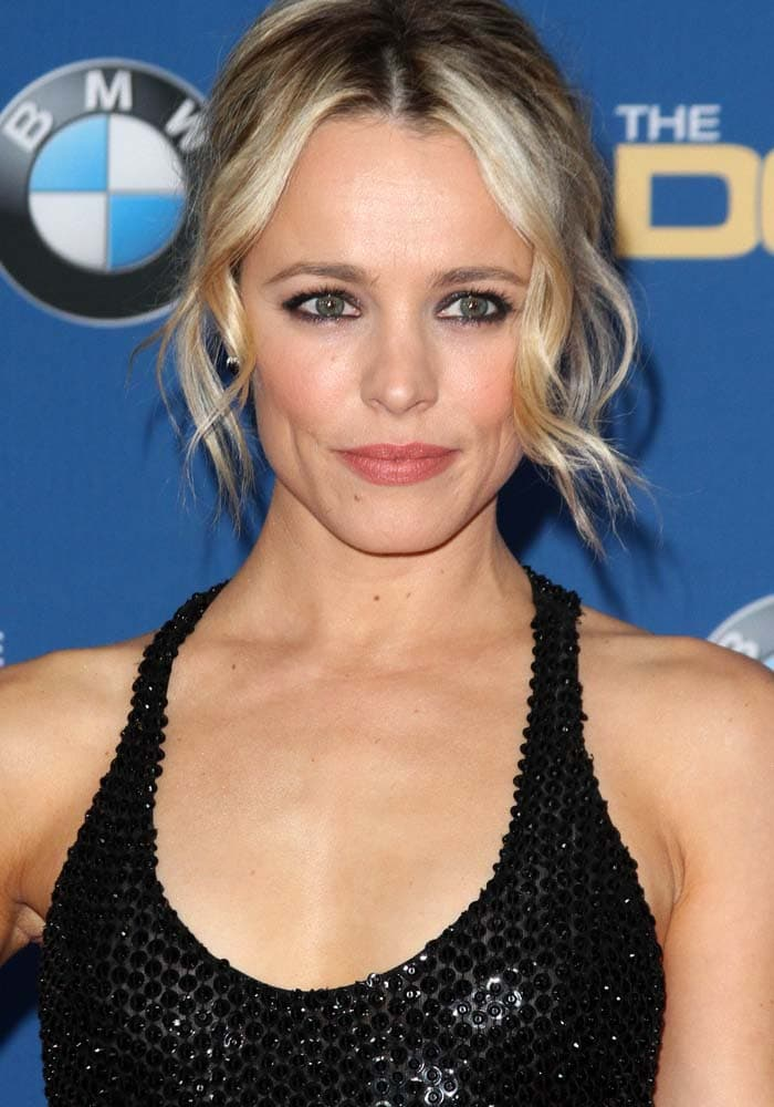 Rachel McAdams wears her hair back at the 68th annual Directors Guild of America Awards