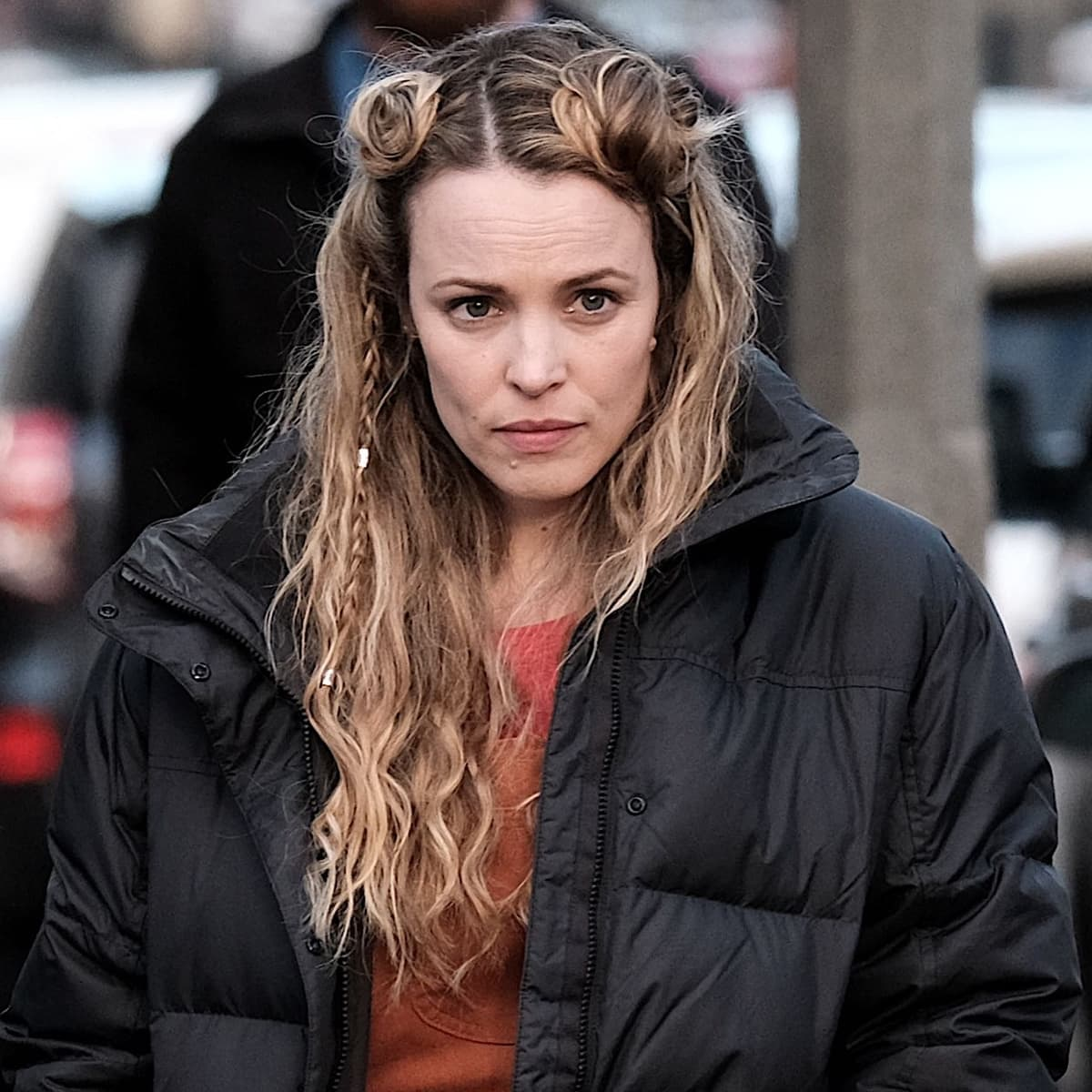 Rachel McAdams shows off her moles on the set of Eurovision Song Contest: The Story of Fire Saga