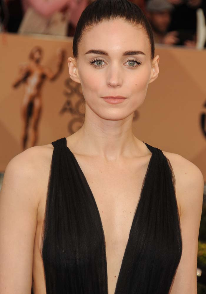 Rooney Mara wears her hair up at the 22nd annual Screen Actors Guild Awards