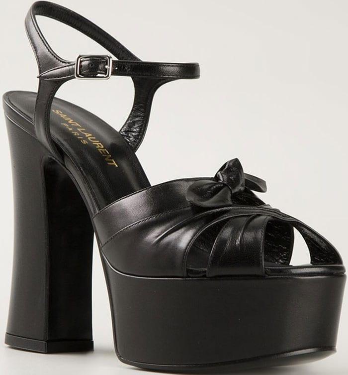 Black Saint Laurent Candy Platform Sandals