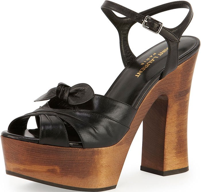 Saint Laurent Candy Wooden Platform Sandals