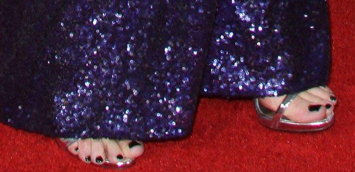 "Selena Gomez's toes in Giuseppe Zanotti ""Coline"" sandals"