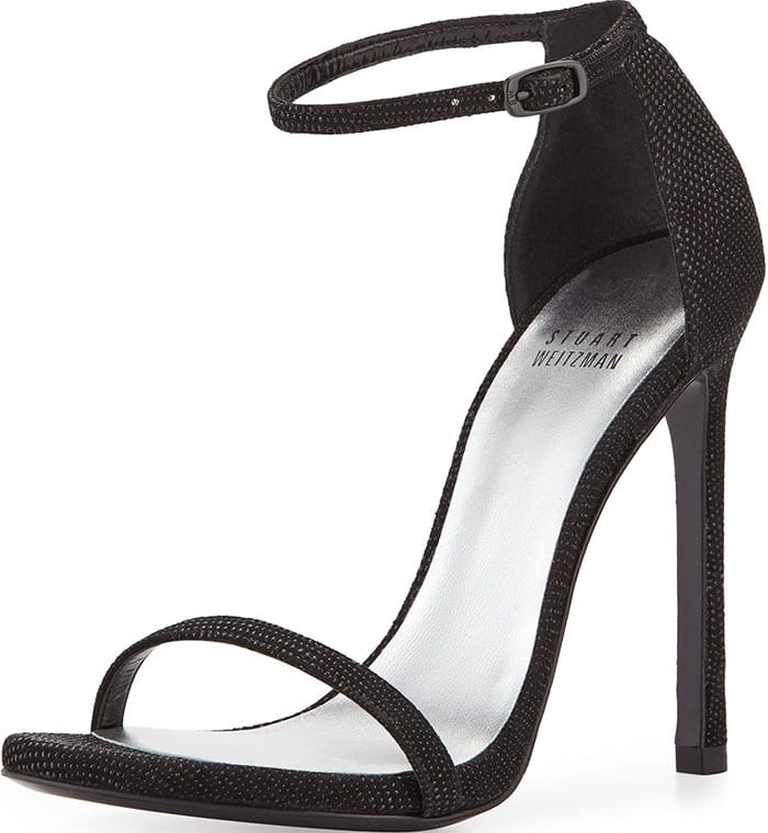 Stuart-Weitzman-Nudist-Black-Goosebump-Napa-Sandals