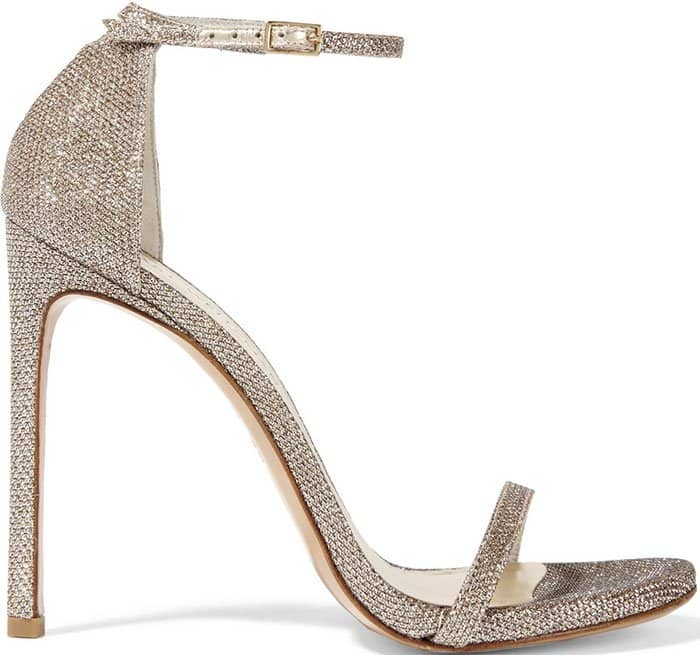 Stuart Weitzman Nudistsong Glitter Sandals