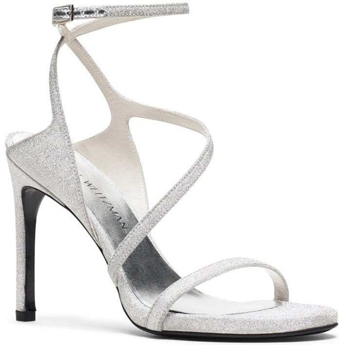 THE SULTRY SANDAL Silver Glitter
