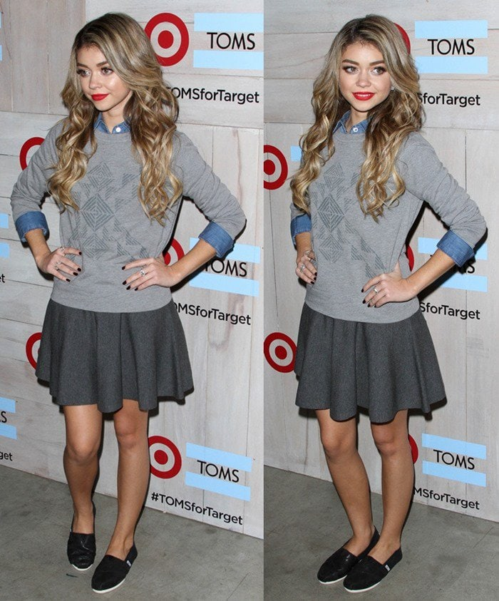 Sarah Hyland at TOMS for Target Launch Event