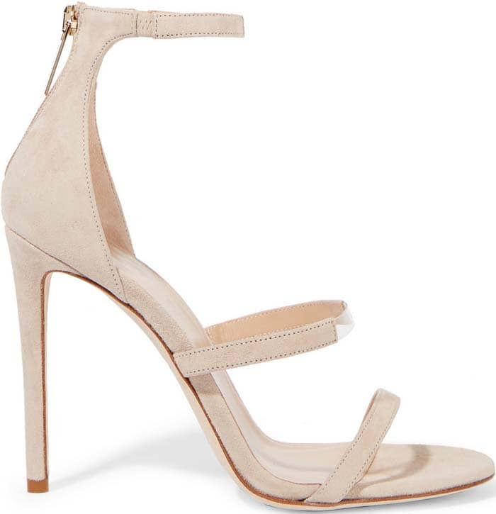 Tamara Mellon 'Horizon' PVC-trimmed Suede Sandals