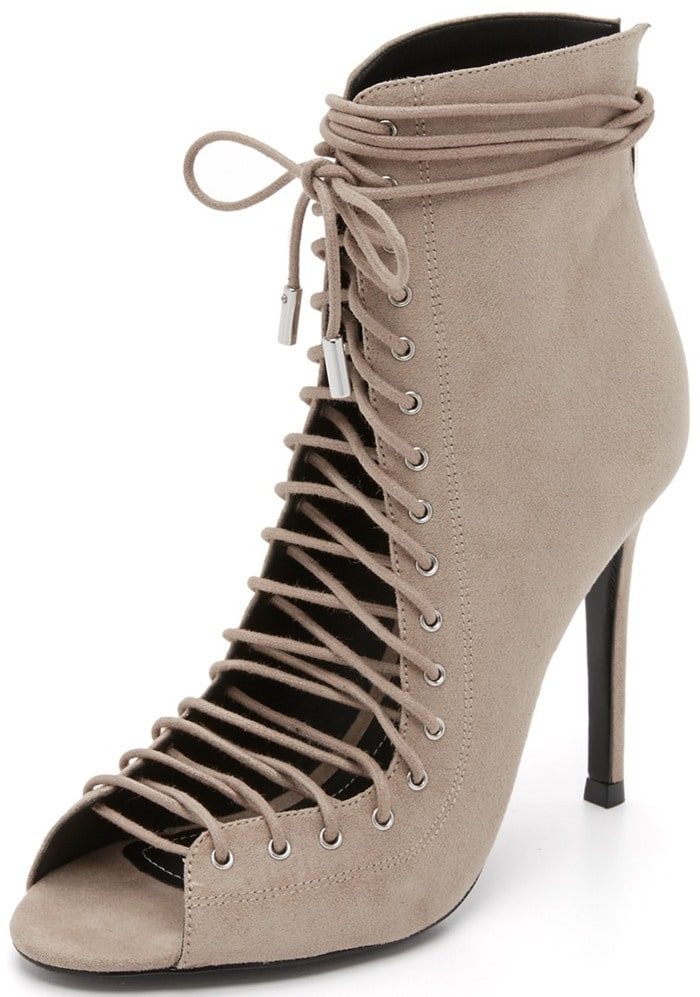 Taupe KENDALL KYLIE 'Ginny' Lace-Up Sandal