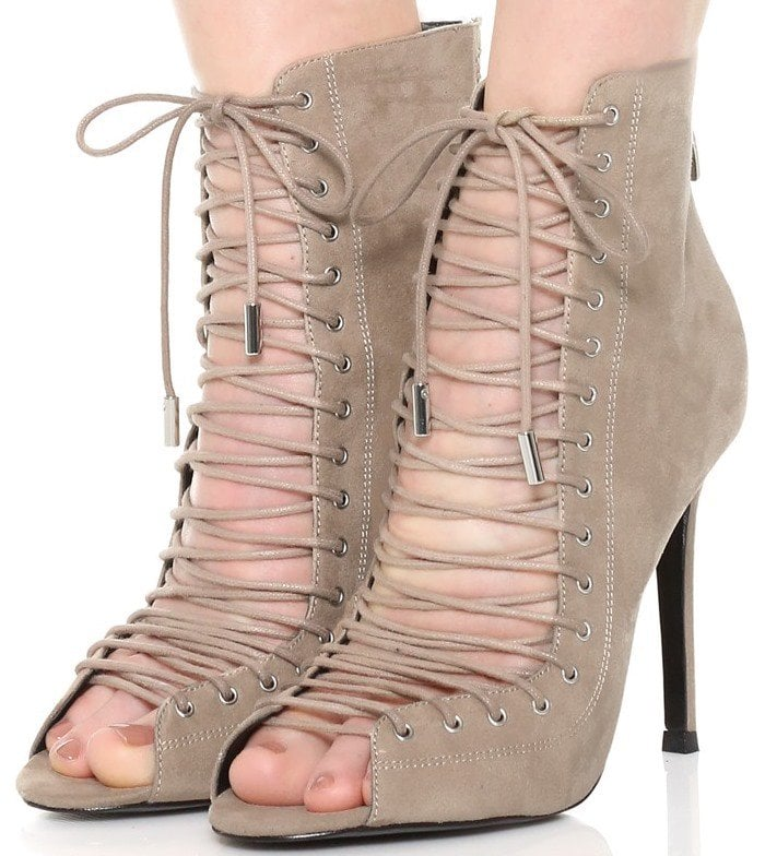 Taupe KENDALL KYLIE 'Ginny' Lace-Up Sandals