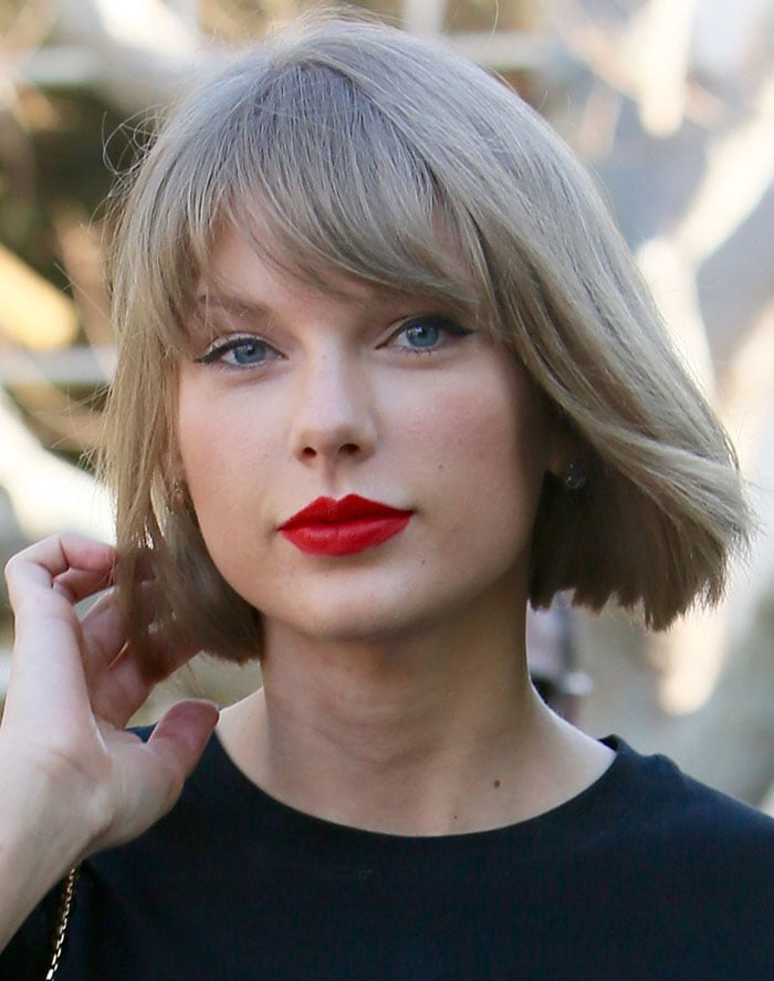 Taylor Swift Shops In Black Vetements Platform Boots