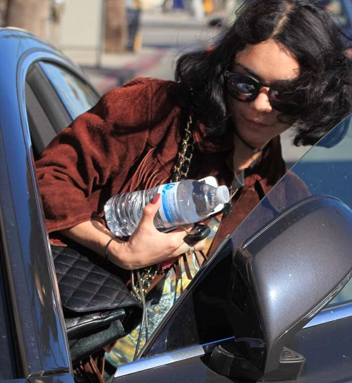 Vanessa Hudgens Nails Fringed Boots 4