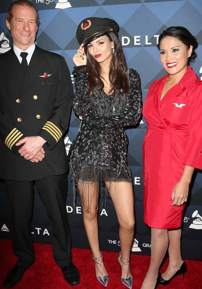 "Victoria Justice at the Delta Air Lines' ""Sites & Sounds"" 2016 Grammy Weekend party in Los Angeles on February 12, 2016"