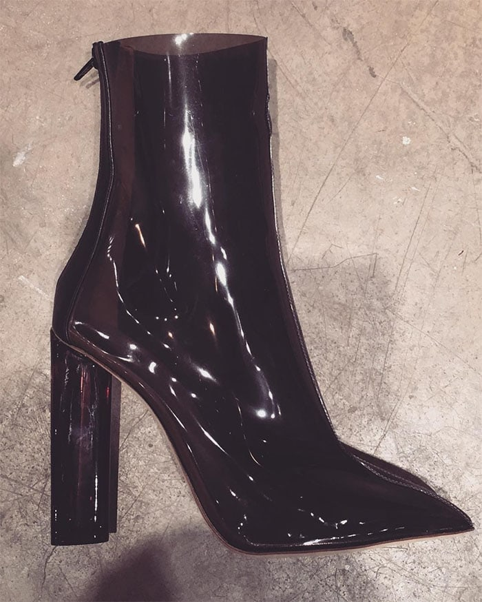 Kim Kardashian's Instagram pic of the Yeezy Season 3 Plexi-heel boots