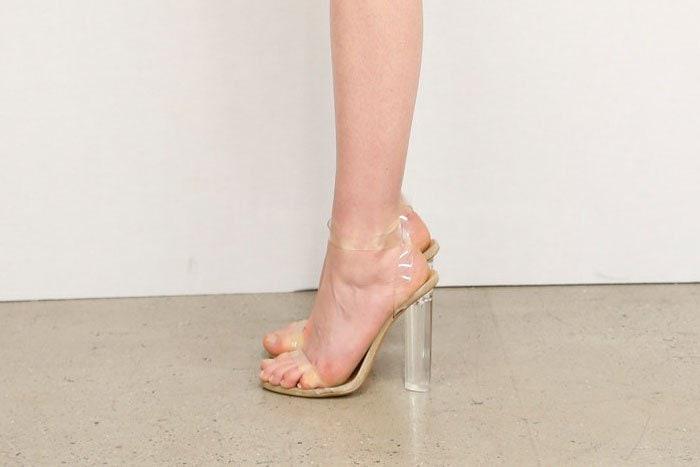Yeezy clear heels