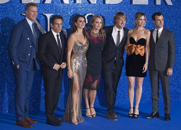 "Will Ferrell, Ben Stiller, Penelope Cruz, Christine Taylor, Owen Wilson, Kristen Wiig, and Justin Theroux attend a Fashionable Screening of the Paramount Pictures film ""Zoolander No. 2"""