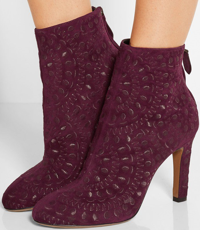 Wear these merlot suede boots with everything from your favorite LBD to jeans
