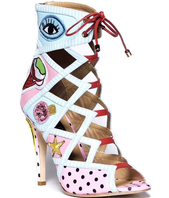 Alejandra-G-Wanda-Pink-Caged-Booties