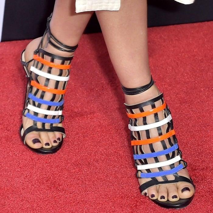 Ali Larter's feet in Ruthie Davis shoes