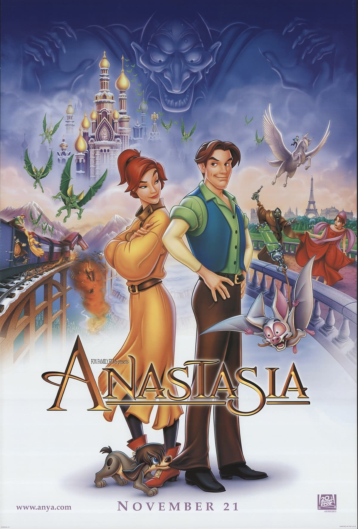 Kirsten Dunst provided the speaking voice for young Anastasia in the 1997 American animated musical drama film Anastasia