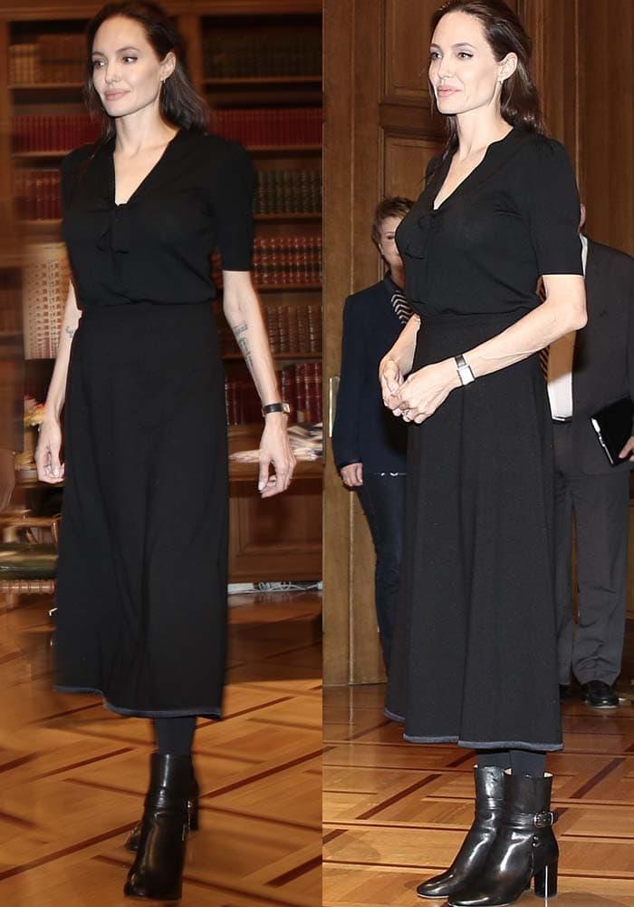 Angelina Jolie Greek Prime Minister Isabel Marant 2
