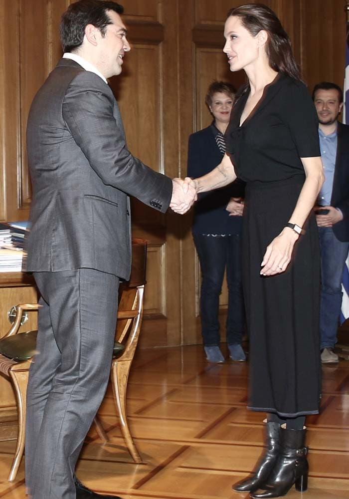 Angelina Jolie Greek Prime Minister Isabel Marant 4