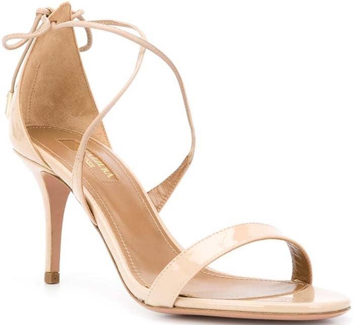 Nude Aquazzura 'Linda' Patent Sandals