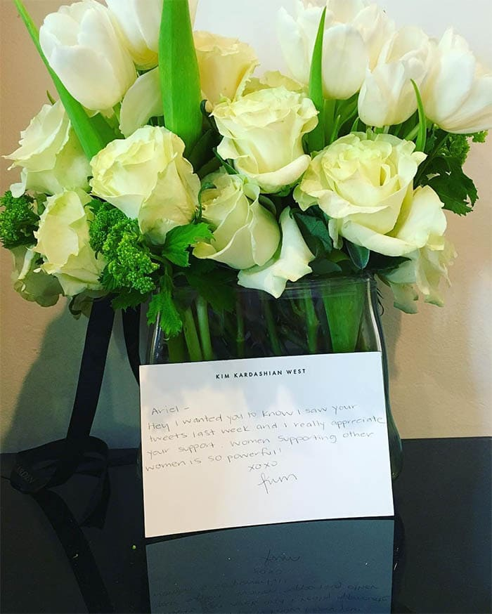 Ariel Winter Kim Kardashian flowers