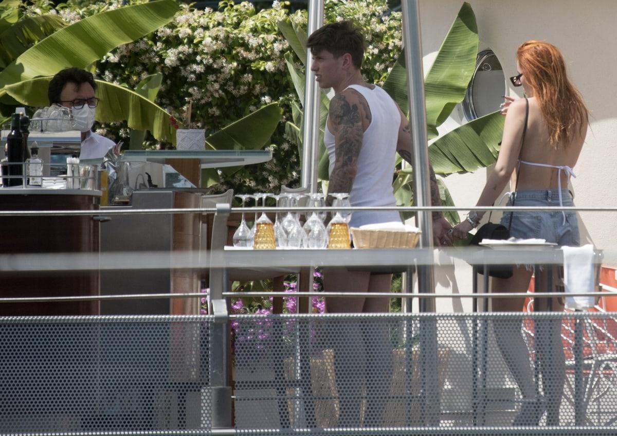 Bella Thorne and her boyfriend Benji Mascolo enjoying their stay at Grand Hotel Tremezzo