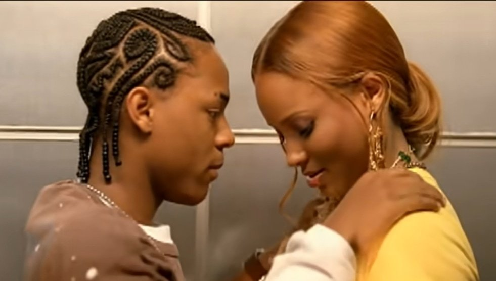Ciara and Bow Wow meet in the elevator in the music video for Like You