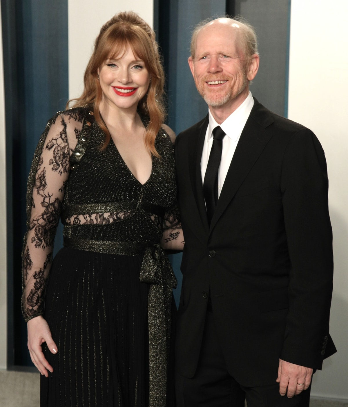 Ron Howard (R) mistook Jessica Chastain for his oldest daughter Bryce Dallas Howard (L)