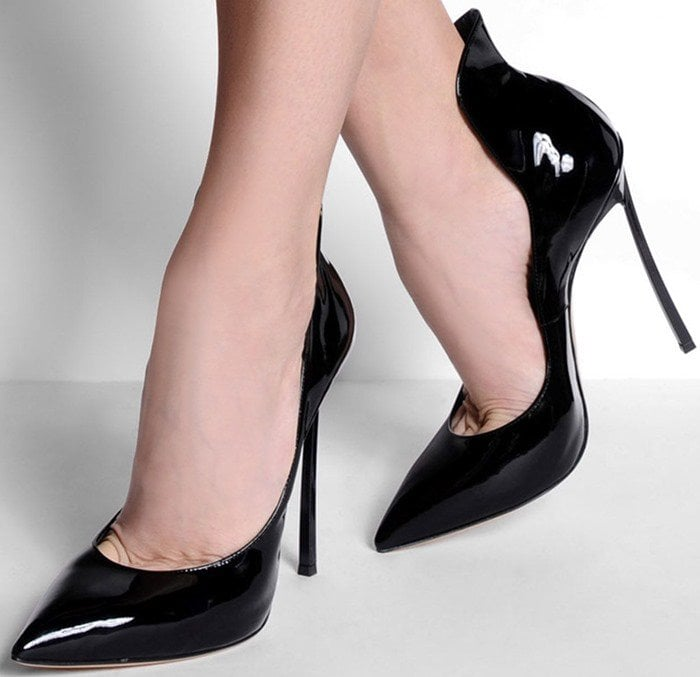 Casadei Blade Cappa Pumps in Black Patent