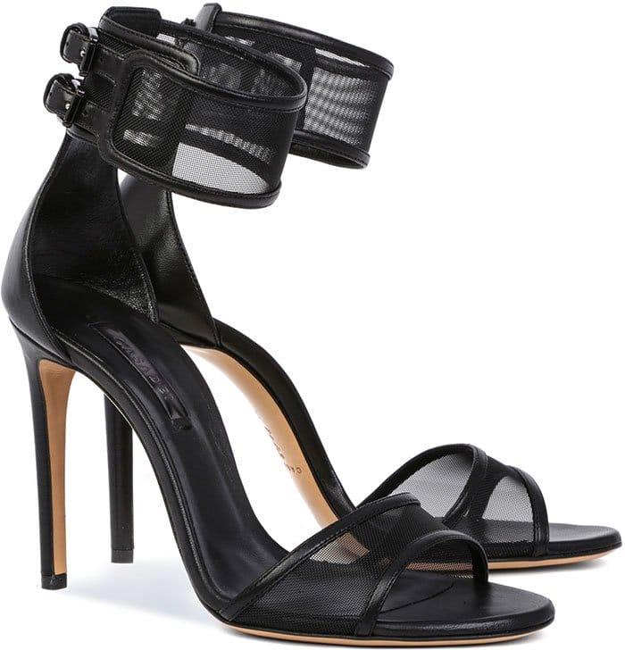 Black Casadei Sheer Mesh Sandals