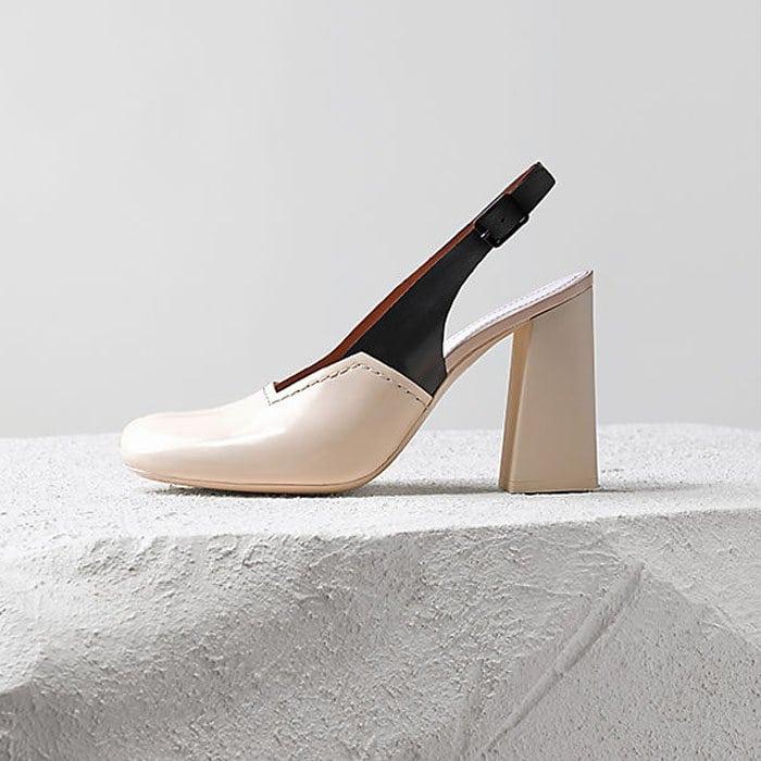 Celine fall 2014 block heel slingback pumps