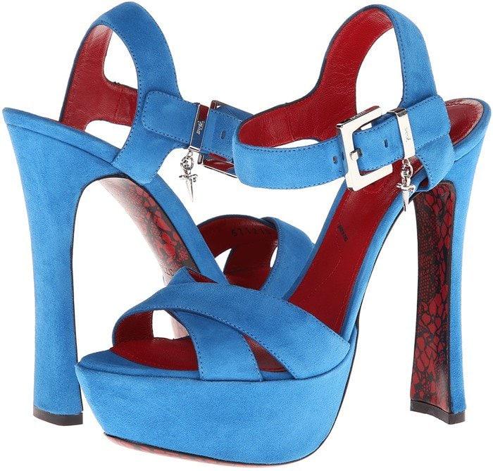 Blue Cesare Paciotti Heels