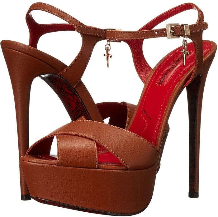 Cesare Paciotti Platform Ankle Strap Sandal