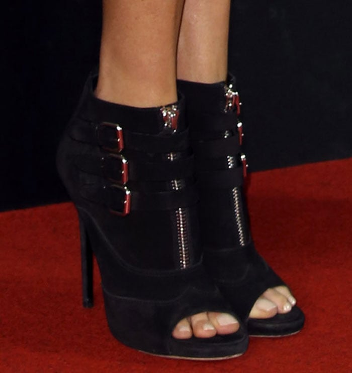 Charlize Theron in Tabitha Simmons booties