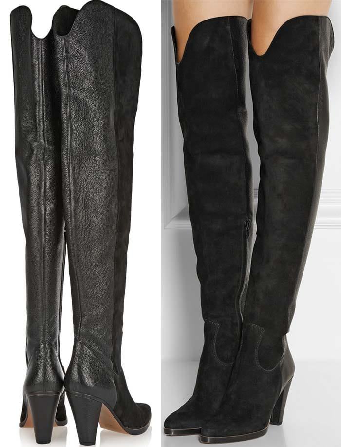 Chloe Over the Knee Suede Leather Boots