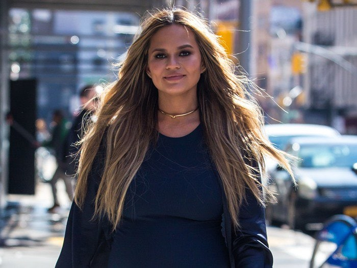 Pregnant Chrissy Teigen out and about in New York City