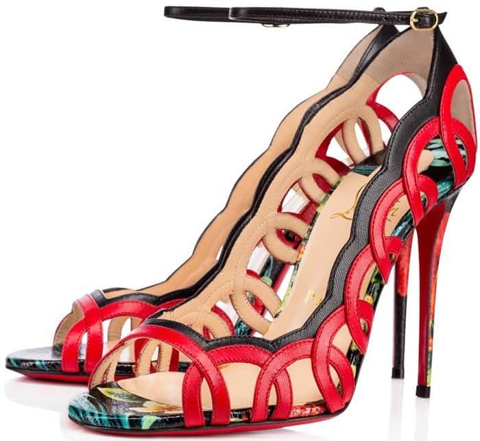 Christian Louboutin Houla Hot 100 printed leather sandal