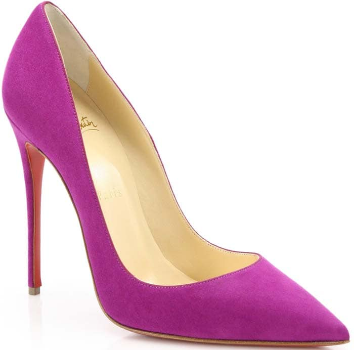 Christian Louboutin So Kate Suede Pink