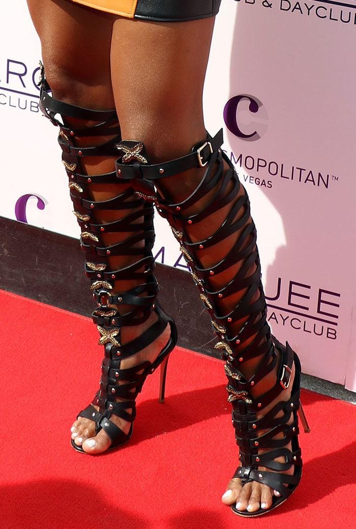 Ciara-Altuzarra-leather-gladiator-sandals