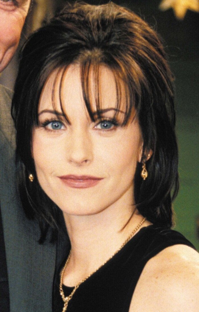 Courteney Cox as Monica Geller in the second season of Friends, which premiered on NBC on September 21, 1995