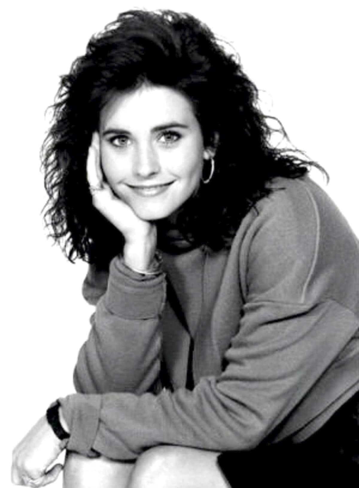 Courteney Cox was 22 years old when she made her debut as the girlfriend of Michael J. Fox's character in the NBC comedy series Family Ties