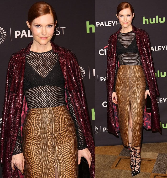 """Darby Stanchfield at the """"Scandal"""" panel during the 33rd annual PaleyFest Los Angeles"""