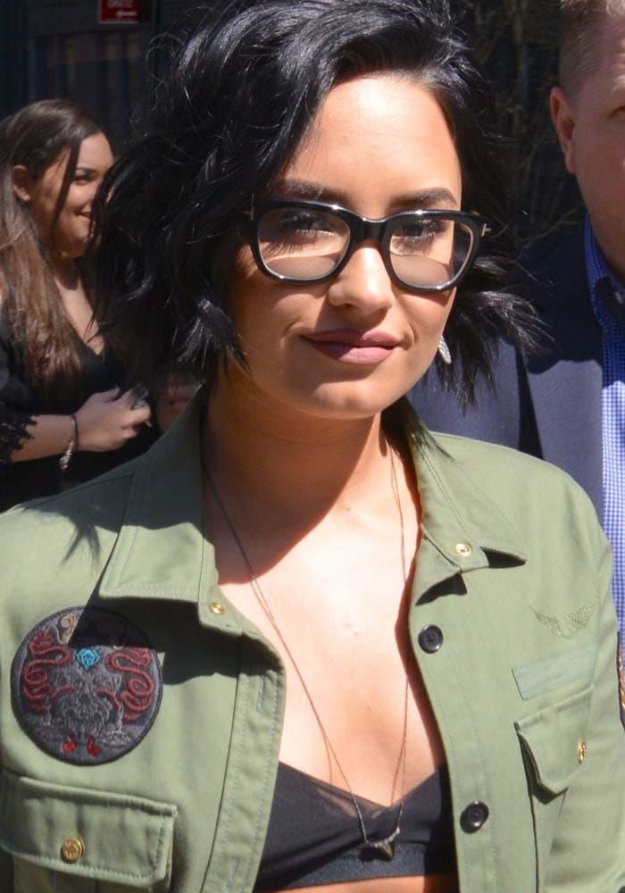 Demi Lovato NYC Hotel Saint Laurent 1