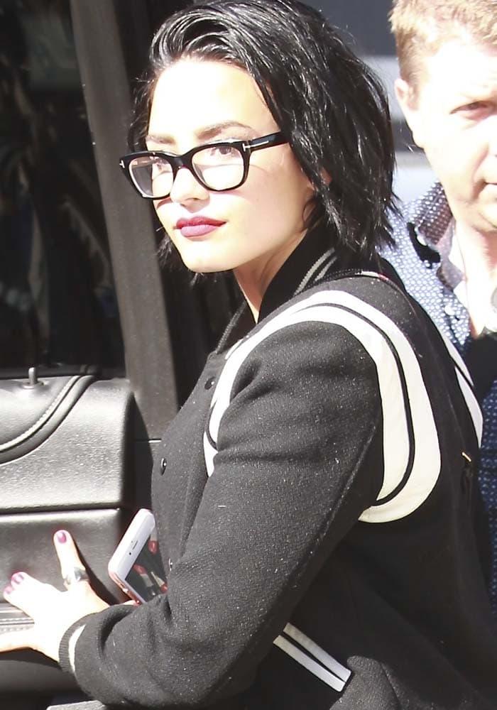 Demi Lovato Nick Jonas Studio Saint Laurent 1