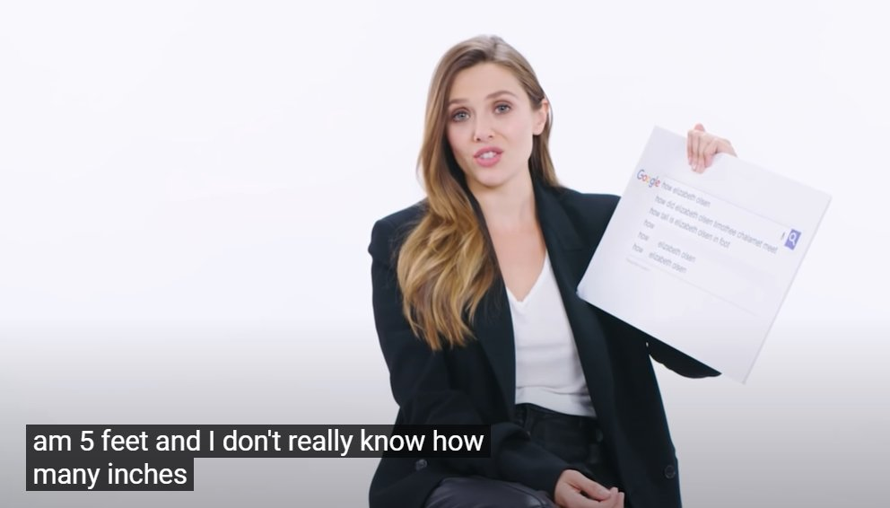 """Elizabeth Olsen reveals she's """"five feet, and I don't really know how many inches"""" in WIRED's Autocomplete Interview"""