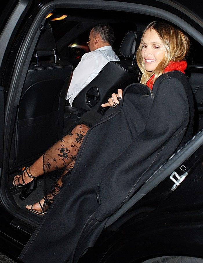 Elle-Macpherson-black-lace-dress-sandals