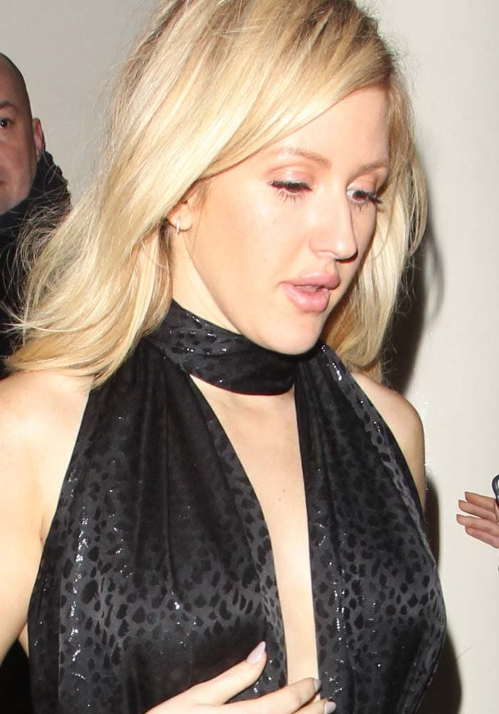 Ellie Goulding wears her blonde hair down at the Sony Music BRIT Awards 2016 Party