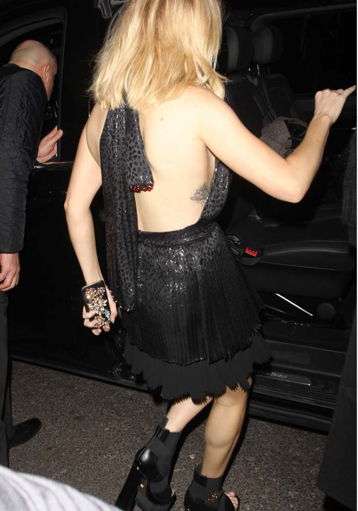Ellie Goulding leaves the Sony Music BRIT Awards 2016 Party held at the Arts Club in London